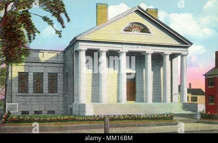 Pilgrim Memorial Hall. Plymouth. 1910 - Stockfoto