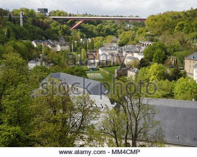 Großherzogin Charlotte Bridge, Pfaffenthal Heben, Luxemburg Stadt - Stockfoto