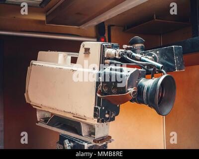 Retro Vintage professionelle videotype Kassette video kamera für Fernsehen telecast - Stockfoto
