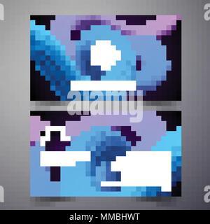 Vektor modernen Business Card design Vorlage mit abstrakten Hintergrund. Corporate identity Illustration mit einfachen Logo.