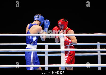 Großbritannien - London 2012 die Olympischen Spiele Boxen, Callum Smith vs Maxime Koptyakor, Excel London. 24. November 2011 - Stockfoto
