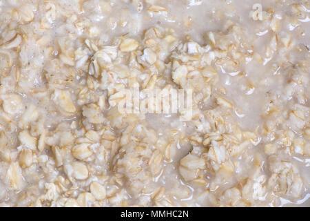 Hintergrund aus dem Geschweißten porridge Flocken für ein Frühstück - Stockfoto