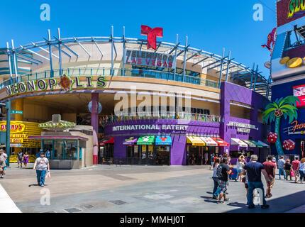 Neonopolis Unterhaltungs komplex auf der Fremont Street Las Vegas Boulevard Las Vegas, Nevada - Stockfoto