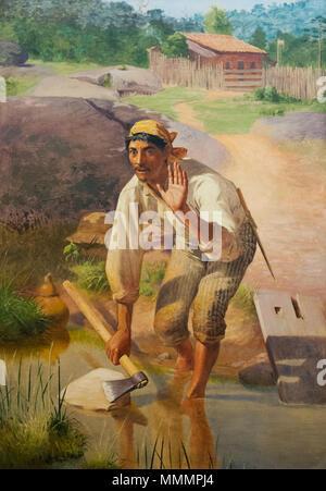 Amolação interrompida von Jose Ferraz de Almeida Indiana Junior 1894 - Stockfoto