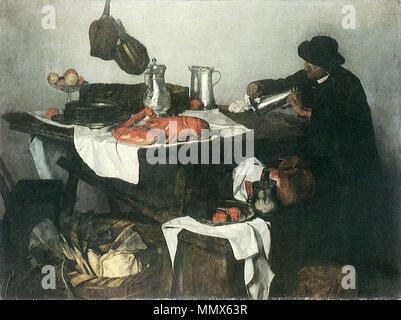 Matteostilleben.. 1879/1880. Carl Schuch - Matteostilleben - Stockfoto