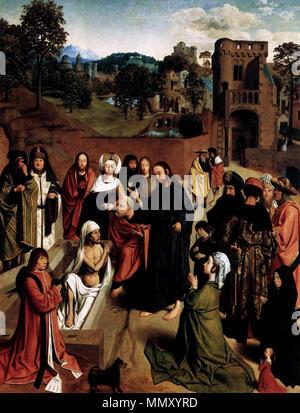 Englisch: die Auferweckung des Lazarus. ca. 1480. Geertgen Tot Sint Jans - die Auferweckung des Lazarus - WGA 08511 - Stockfoto
