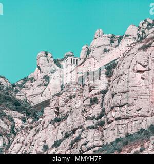 Blick auf das Kloster von Montserrat in Katalonien, in der Nähe von Barcelona