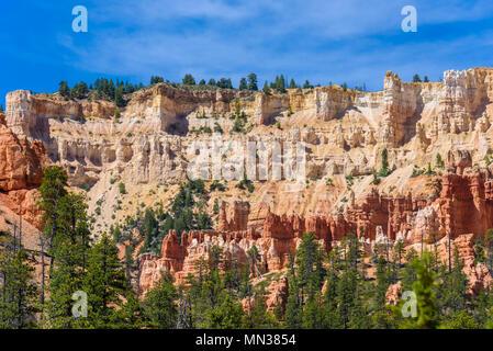 Bryce Canyon National Park - Wandern auf den Queens Garden Trail und Najavo Schleife in den Canyon, Utah, USA. - Stockfoto