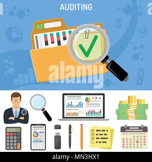 Auditing, Business Accounting Konzept - Stockfoto