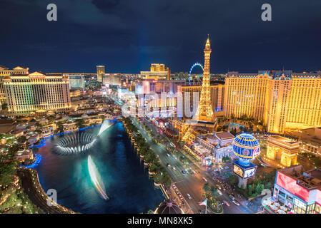 Las Vegas Strip bei Nacht - Stockfoto
