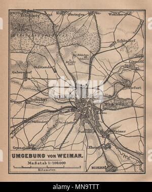Karte Weimar Und Umgebung.Weimar Suchen Umgebung Thuringen Karte Baedeker Kleine