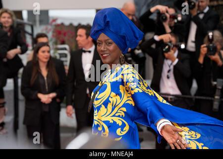 CANNES, Frankreich - 16. Mai: Jurymitglied Khadja Nin besucht das Screening von 'Brennen' während der 71st jährlichen Filmfestspiele von Cannes im Palais des Festivals am 16. Mai 2018 in Cannes, Frankreich Quelle: BTWImages/Alamy leben Nachrichten - Stockfoto