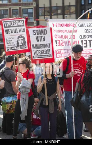 Jährliche Tag der Rallye und März bringt die Union Arbeitnehmer, Einwanderer und andere mit voicing Fragen, die in den USA angegangen werden. - Stockfoto