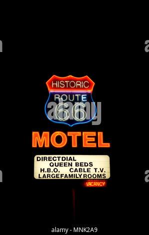 Motel Zeichen auf der Route 66 in Oklahoma - Stockfoto