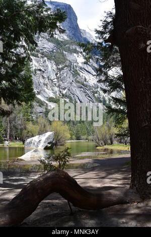 Mirror Lake im Yosemite Valley, Yosemite National Park, Kalifornien - Stockfoto