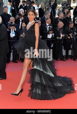 """17.05.2018, Frankreich, Cannes: Marta Lozzano besucht das Screening von """"Capharnaum' während der 71st jährlichen Filmfestspiele von Cannes am Palais des Festivals.   Verwendung weltweit - Stockfoto"""