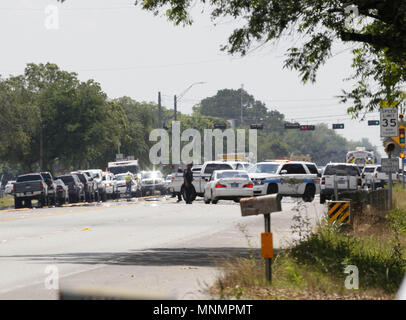 Houston Usa 18 Mai 2018 Sicherheitskräfte Um Santa Fe High