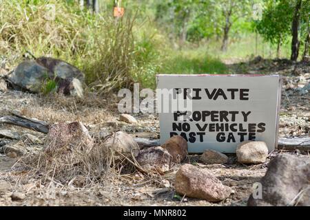 Privates Eigentum, Paluma Range National Park, Rollingstone QLD, Australia - Stockfoto