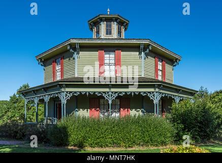 Historischen Hyde House, 1870, Genesee Land Dorf und Museum, Mumford, New York, USA. - Stockfoto