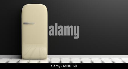 Retro Kühlschrank Schwarz : Weiß retro stil heimischen kühlschrank oder kühlschrank mit