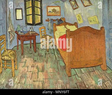Schlafzimmer in Arles. Deutsch: Das Schlafzimmer (1889) von Vincent ...