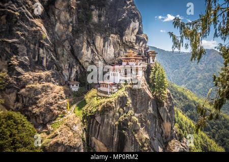 Die Tiger Nest in Paro Bhutan
