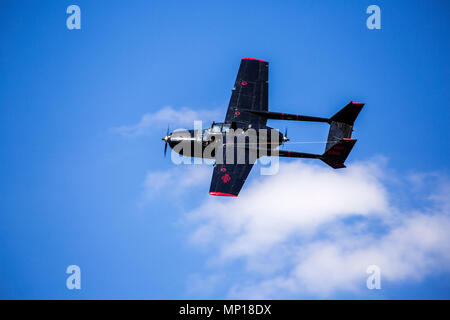 Cessna O-2 Skymaster Beobachtungsflugzeug im Central Texas Airshow - Stockfoto