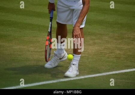 Eine Kugel prallte, in Wimbledon - Stockfoto