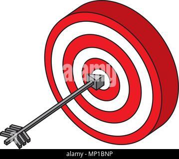 Ziel mit Pfeil Markt Ziel Strategie Konzept - Stockfoto