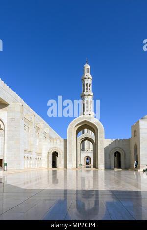 Sultan Qaboos Grand Mosque in Muscat, Oman - Stockfoto