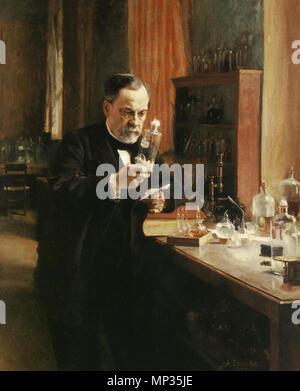 Porträt von Louis Pasteur 1885. 1020 Portrait von Louis Pasteur - Stockfoto