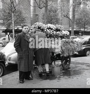 1950er Jahren, historische, Herr im Morgenmantel arrangieren