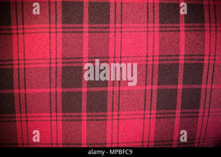 Ledersofa Textur nahtlose Hintergrund, rote Polster aus einem Sofa mit schwarzen Streifen - Stockfoto