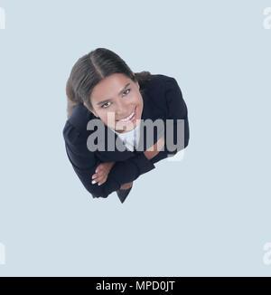 Die Aussicht von oben. Junge Geschäftsfrau - Stockfoto