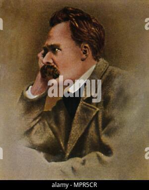"""""""Friedrich Nietzsche 1844-1900"""", 1934. Artist: Unbekannt. - Stockfoto"""