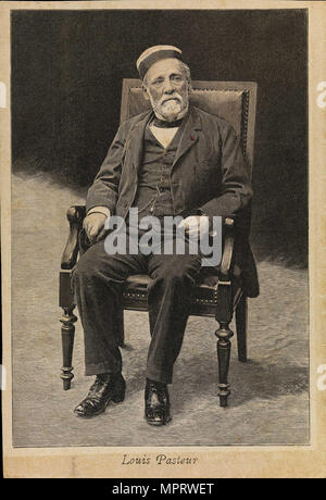 Porträt von Louis Pasteur (1822-1895). - Stockfoto