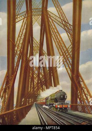 """East Coast Express die Forth Brücke', 1926 Kreuzung. Artist: Unbekannt. - Stockfoto"