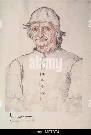 Portrait von Hieronymus Bosch. - Stockfoto