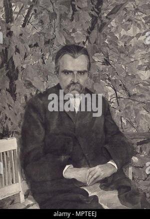 Porträt von Friedrich Nietzsche, 1895. - Stockfoto
