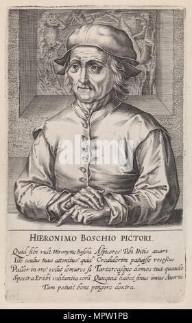 Portrait von Hieronymus Bosch. Von Pictorum aloquot celebrium praecipué Germaniae Inferioris, 1610. - Stockfoto