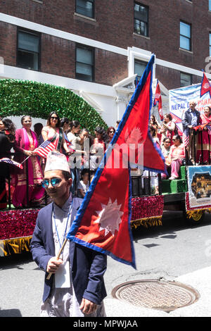 Nepal Day Parade, Madison Avenue, Mai 2018, New York City, USA - Stockfoto