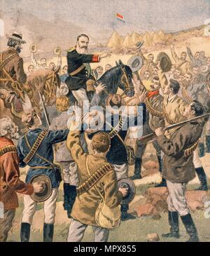 Der Krieg im Transvaal: Allgemeine Joubert rallyesport die Buren, von Petit Journal, Pub. Januar 190 - Stockfoto