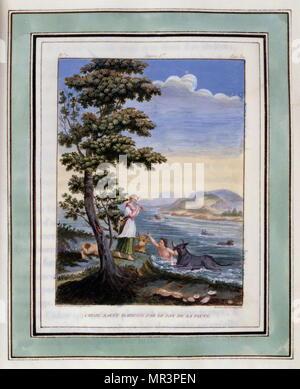 Abbildung von Les Amours de pastorales Daphnis et Chloe 1787 Edition - Stockfoto