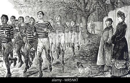 Cartoon, ein Health und Fitness. Mit Ill. von George Du Maurier (1834-1896) eine französisch-britische Zeichner und Autor. Vom 19. Jahrhundert - Stockfoto