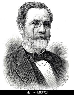 Porträt von Louis Pasteur (1822-1895), ein französischer Biologe, Mikrobiologe und Chemiker. Vom 19. Jahrhundert - Stockfoto