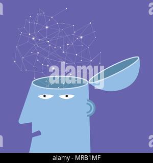 Künstliche Intelligenz Konzept Design, Netzwerk Daten design - Stockfoto