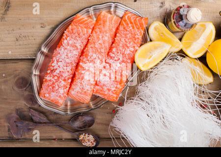 zubereitung von fisch mit kr uter gew rze zitrone stockfoto bild 36774568 alamy. Black Bedroom Furniture Sets. Home Design Ideas
