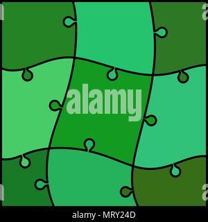 Abstrakte farbige puzzle Hintergrund - grün und Teal - Stockfoto