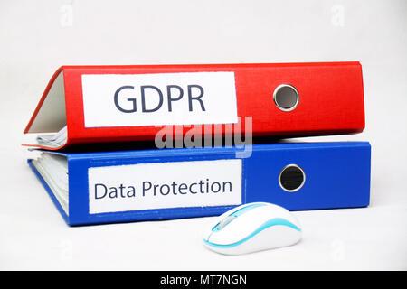 Bipr Allgemeine Datenschutzverordnung im Büro Dateien - Stockfoto