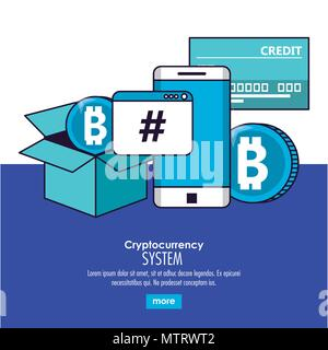 Cryptocurrency System Technologie - Stockfoto